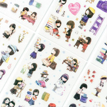6 Pcs/lot Cute young girl season Stickers Kawaii Planner Diary Scrapbooking Sticker Stationery School Supplies