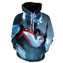 2019Avengers Endgame Quantum Realm 3D Print Hoodies Sweatshirt Superhero Captain America Iron Man Coat Jacket Tony Stark Hoodie