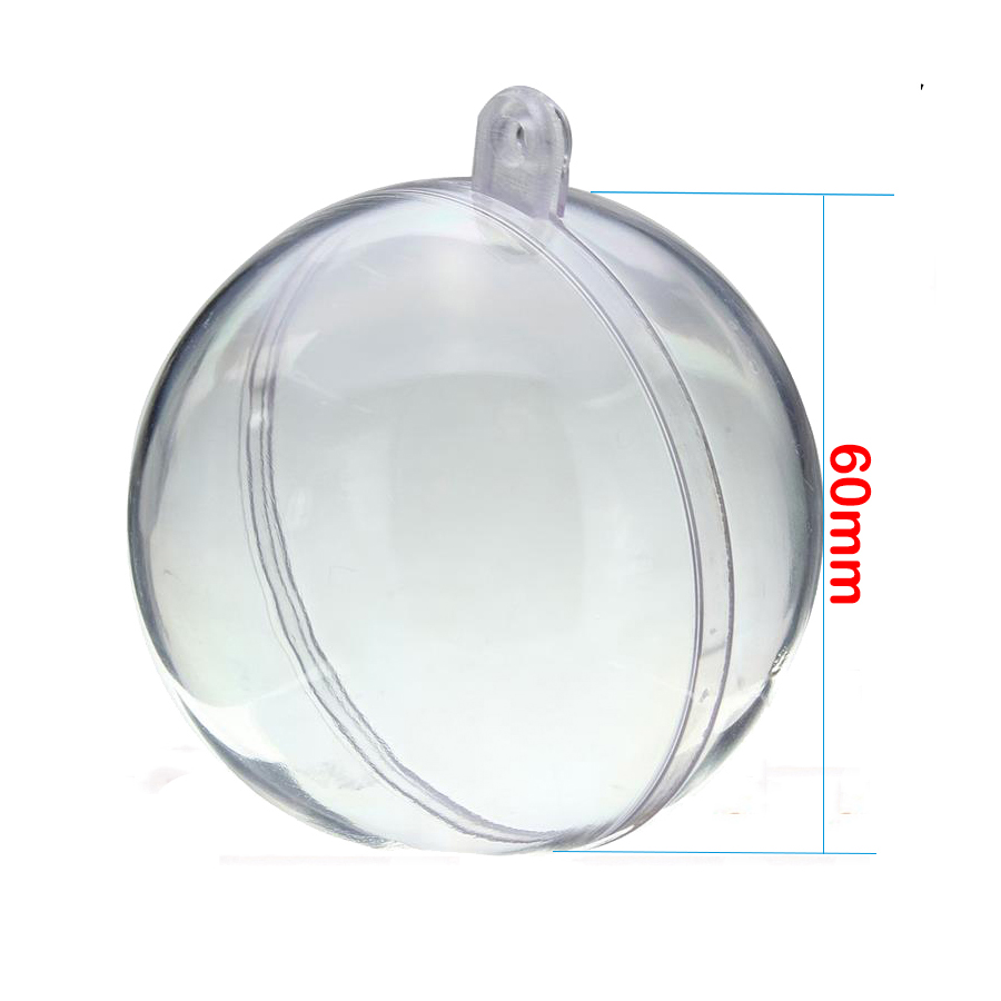 Gift Boxes10PCS christmas decoration tree Ornament 6CM Ball Type Box Craft cristmas transparent plastic ball
