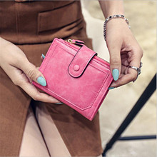 Wholesale new 2019 Wallet Women Vintage Fashion Top Quality Small Wallet Leather Purse Female Money Bag Small Zipper Coin Pocket