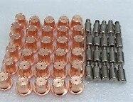 Trafimet S45 Électrode PR0105 20 pcs + Buse PD0102-10 20 pcs + Remous anneau PE0106 1 pc + CAPUCHON DE Retenue PC0116 1 pcs
