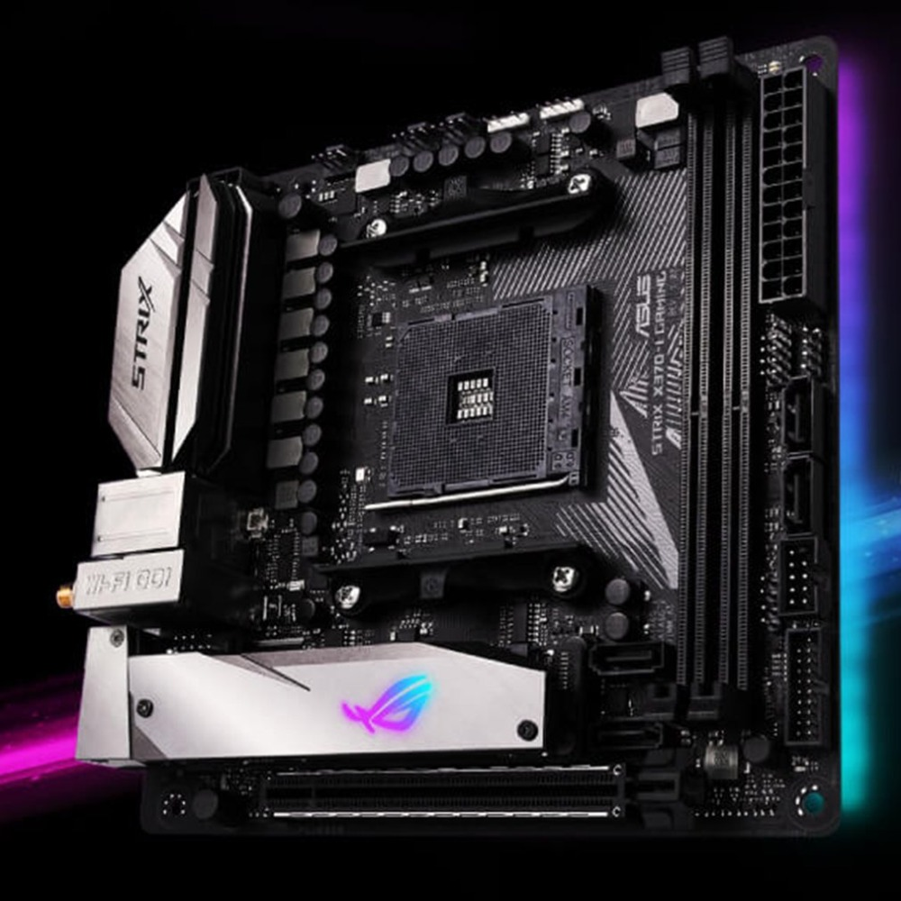все цены на ROG STRIX X370-I GAMING X370 Motherboard Game Players Country ITX Small Dual M.2 Motherboard With RGB Light Effect онлайн