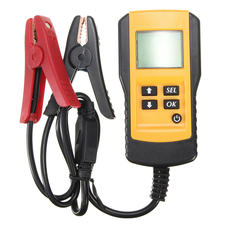 Digital 12V Car Battery Tester Automotive Battery Load Tester And Analyzer Durable Quality LCD screen  em281 mini 12v 24v automotive battery tester lcd bar indication battery load tester electrical all sun em281 battery analyzer