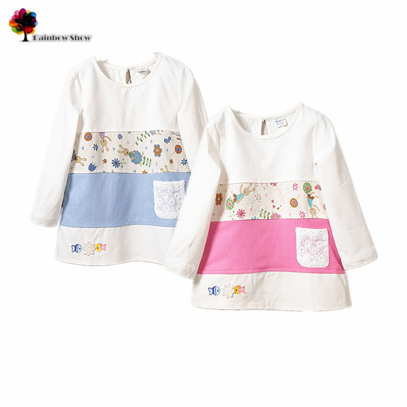 2015 nuevos niños ropa de primavera y otoño Niñas tricolor costura ...