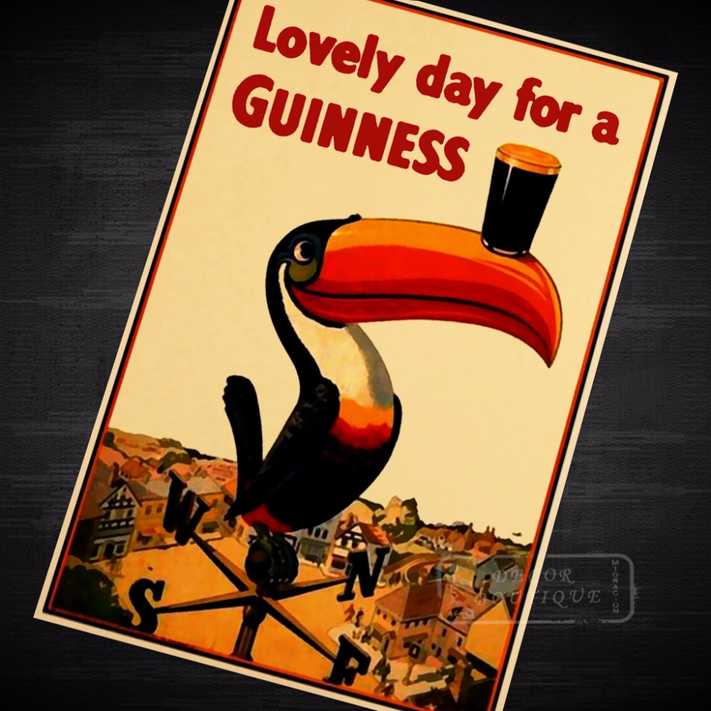 Lovely Day for A Guinness Propaganda Vintage Kraft Decorative Poster ...