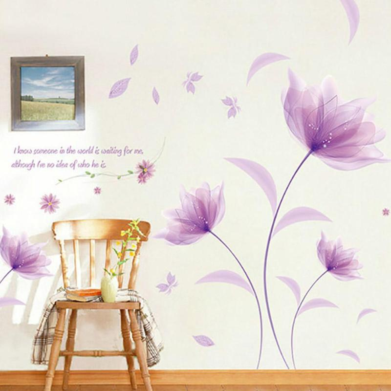 Compare Prices on Flower Design Wall Stickers Online ShoppingBuy