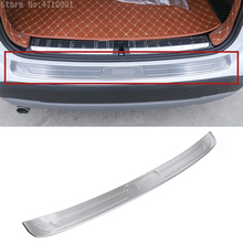 304 Stainless Steel Rear Trunk Rearguards Rear Bumper Outer Sill Protector Guard Cover Plate 1pc For BMW X1 f48 2016 2017 цена