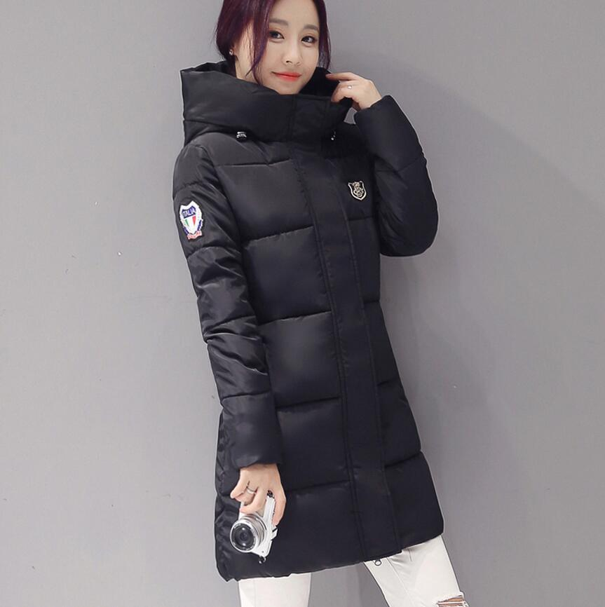 2017 women cotton   basic     jackets   coat was thin in the long section tops women's cotton   jacket   winter coats 62145