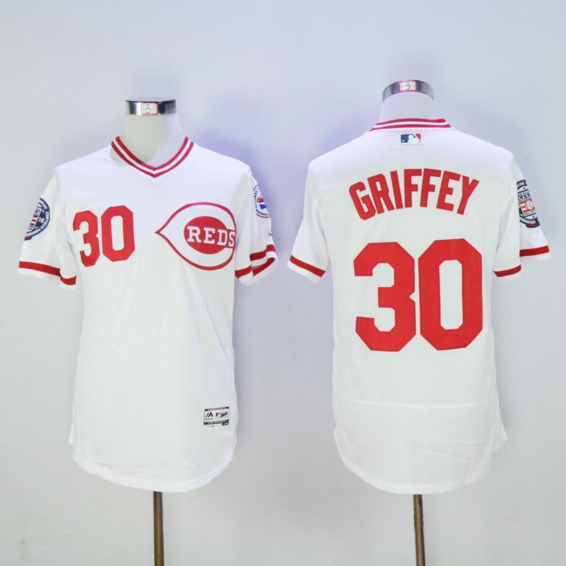 Mens Cincinnati Reds Ken Griffey Jr Flexbase Fully Stitched Baseball Jersey