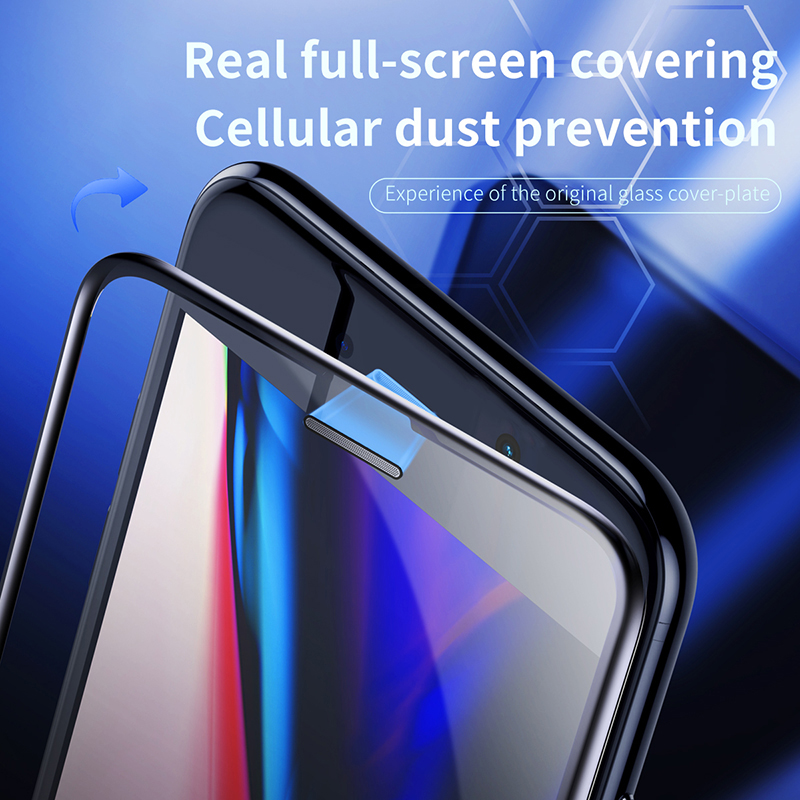 <font><b>Baseus</b></font> 0.3mm Thin Protective Glass For <font><b>iPhone</b></font> 7 8 6 <font><b>6s</b></font> Screen Protector 9H Full Coverage Tempered Glass For <font><b>iPhone</b></font> 6 s 7 8 Plus image