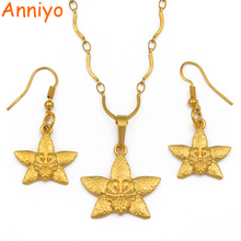 цена на Anniyo Small Star Pendant Necklaces for Women Girls Papua New Guinea Gold Color Jewellery PNG National Itmes #102006