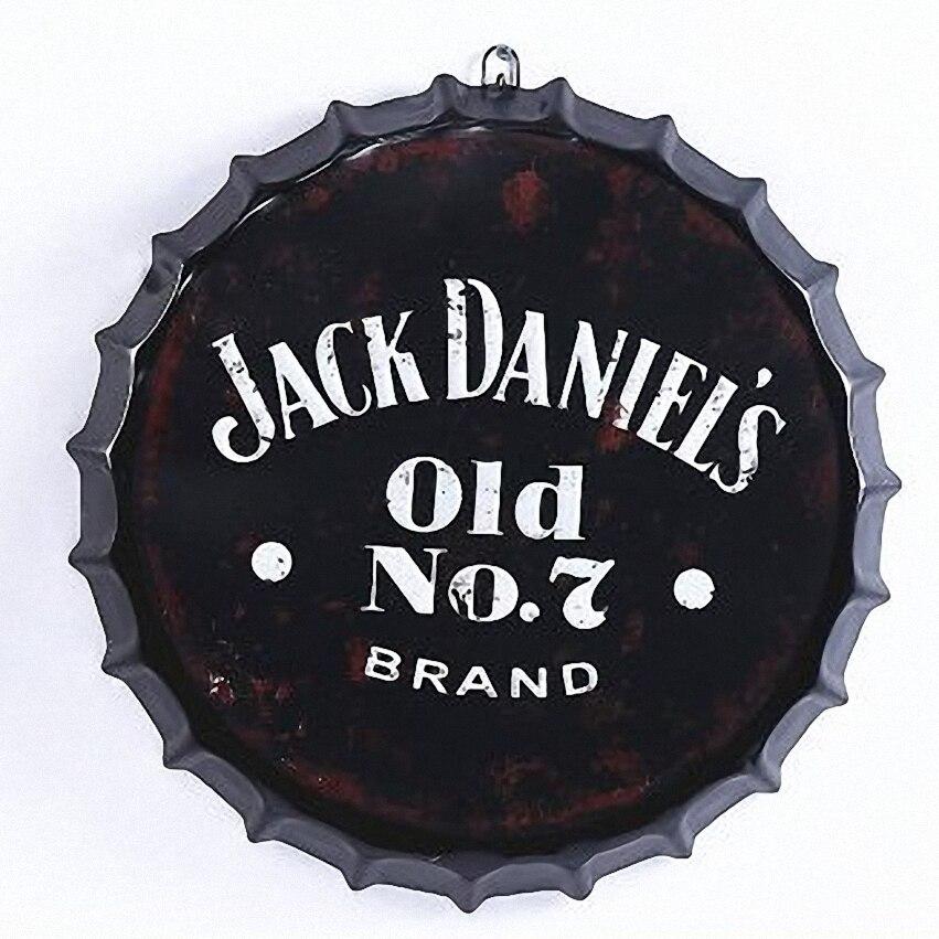 Le vieux non de JACK DANIEL'S. 7 3D bière couverture étain signe Logo Plaque Vintage métal peinture mur autocollant fer signe Bar KTV café décor