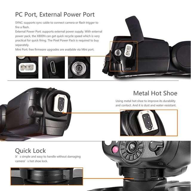 Pixel X800N Pro Flash Speedlite For Nikon d7100 d3100 d5300 d7000 d90 d750  ITTL HSS High Speed Sync External Flashgun Vs YN568EX