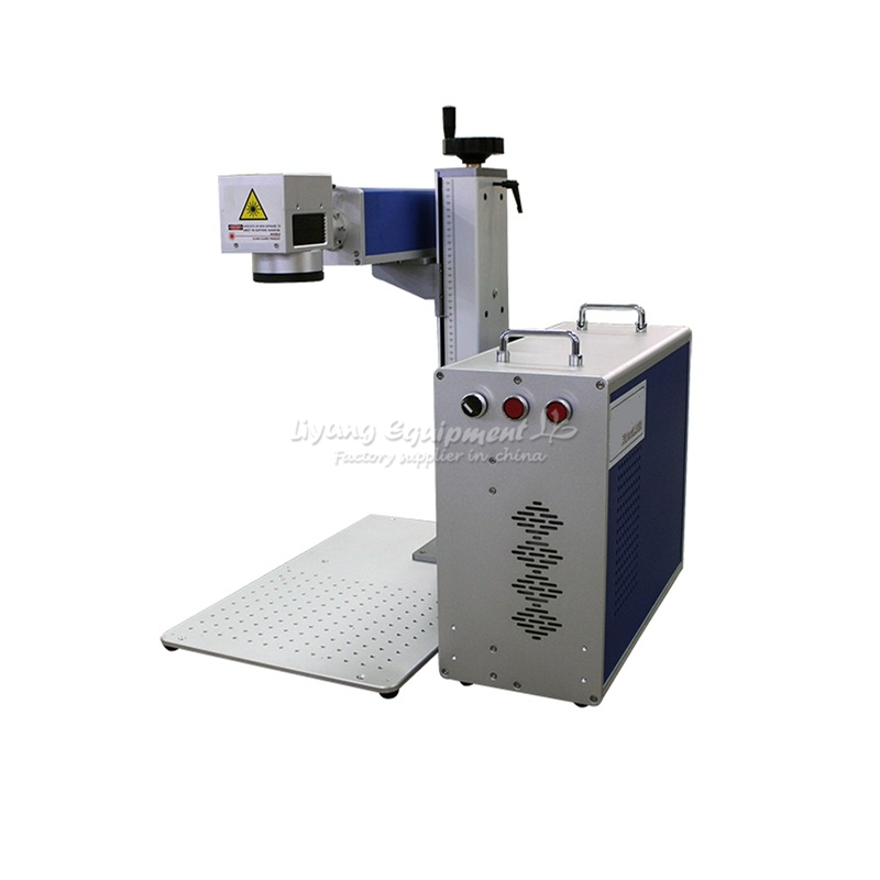 20W <font><b>30W</b></font> separated optical fiber <font><b>laser</b></font> metal marking machine used for aluminum gold silver brass engraving image