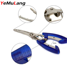 YeMuLang  1 piece Stainless Steel  Blade Plastic Handle Fishing Line Scissors For Fishing Tackle