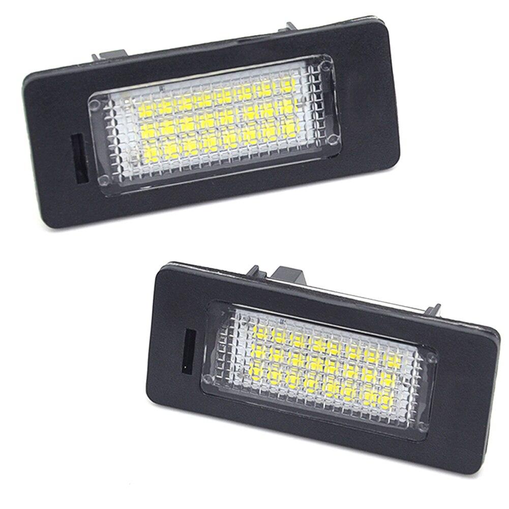 Car Led License Plate Led Light Lamp 12v White 6000K For BMW E39 E60 E82 E90 E92 E93 M3 E39 E60 E70 X5 E60 E61 M5 E88