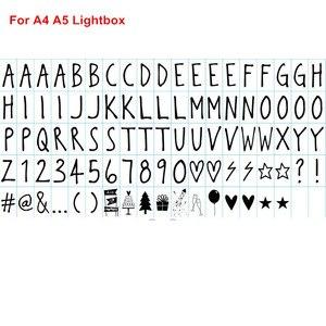 Image 5 - כולל קולנוע Lightbox אותיות עבור A4 A5 קולנוע אור תיבת DIY אורות בית תפאורה חג לנכש אותיות וכרטיסי & סימנים ומספרים