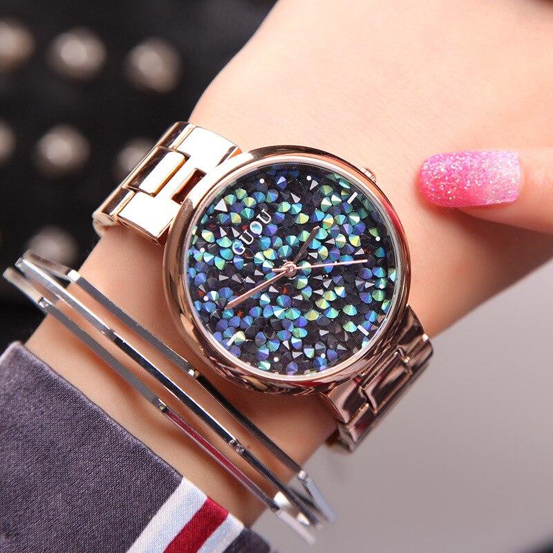 Luxury fashion diamond watch GUOU brand ladies sparkling diamond watch crystal women watch relogio feminino kobiet zegarka цена