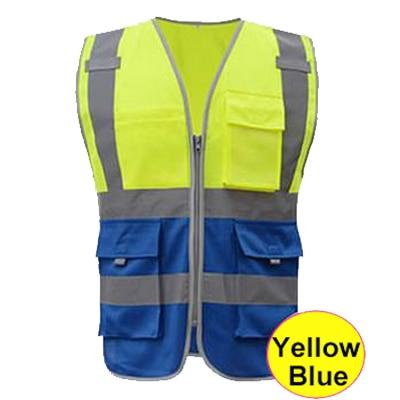 sfvest en 20471 azul dos homens de colete de seguranca colete de seguranca fluorescente construcao trabalho