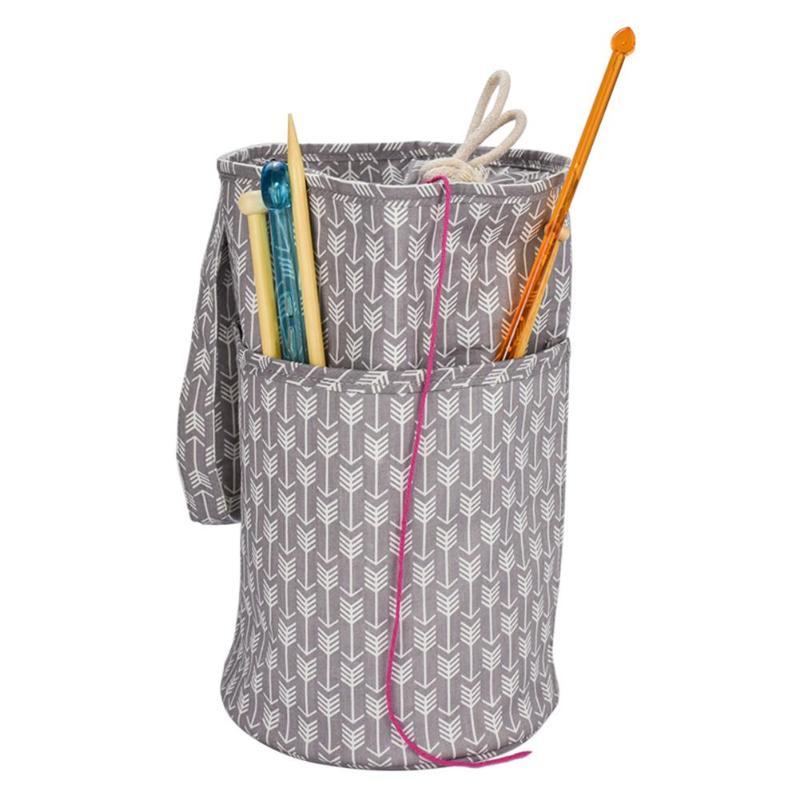 Вязание организации крючком Крючки нитки Пряжа сумка для хранения Органайзер DIY держатель DIY Одежда Путешествия пряжа держатель Tote