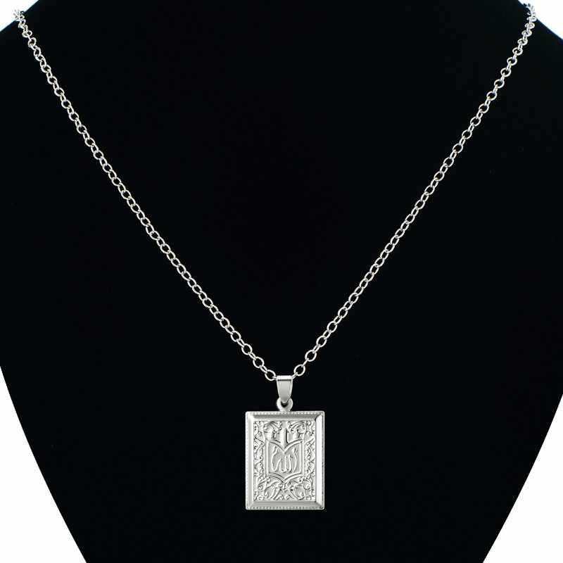 Islam biżuteria srebrny kolor muzułmańskiego koranu Allah wisiorek naszyjnik dla kobiet style arabskie plac islamski Koran naszyjnik