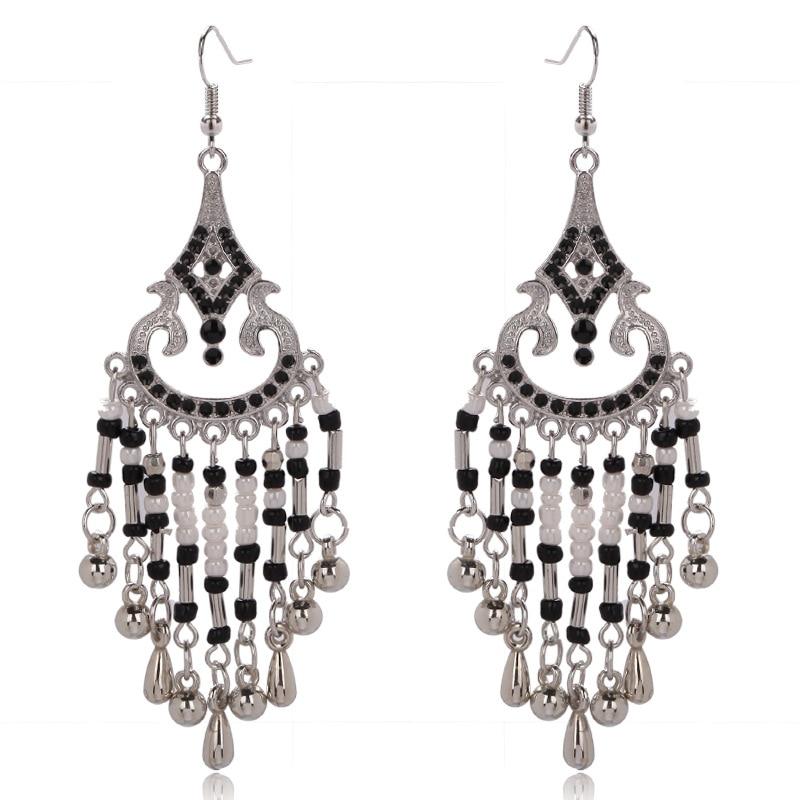Fashion Long Bohemian Earrings For Women Vintage Jewelry Statement Multi Color Seed Beaded Tassels Dangle Chandelier In Drop From