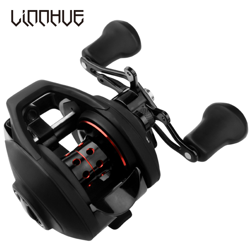 LINNHUE BF2000 Baitcasting Reel High Speed 7.2:1 Gear Ratio 12+1BB Fresh/Saltwater Magnetic Brake System Ultralight Fishing Reel(China)