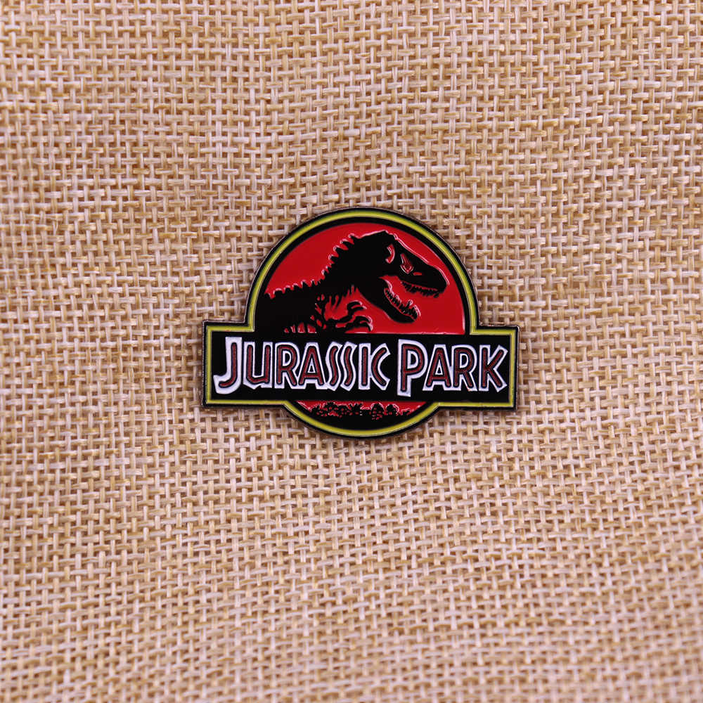 Jurassic Park Film Script Movie Uniek Cadeau Kerst Xmas Present Revers Pin Dinosaurus Badge