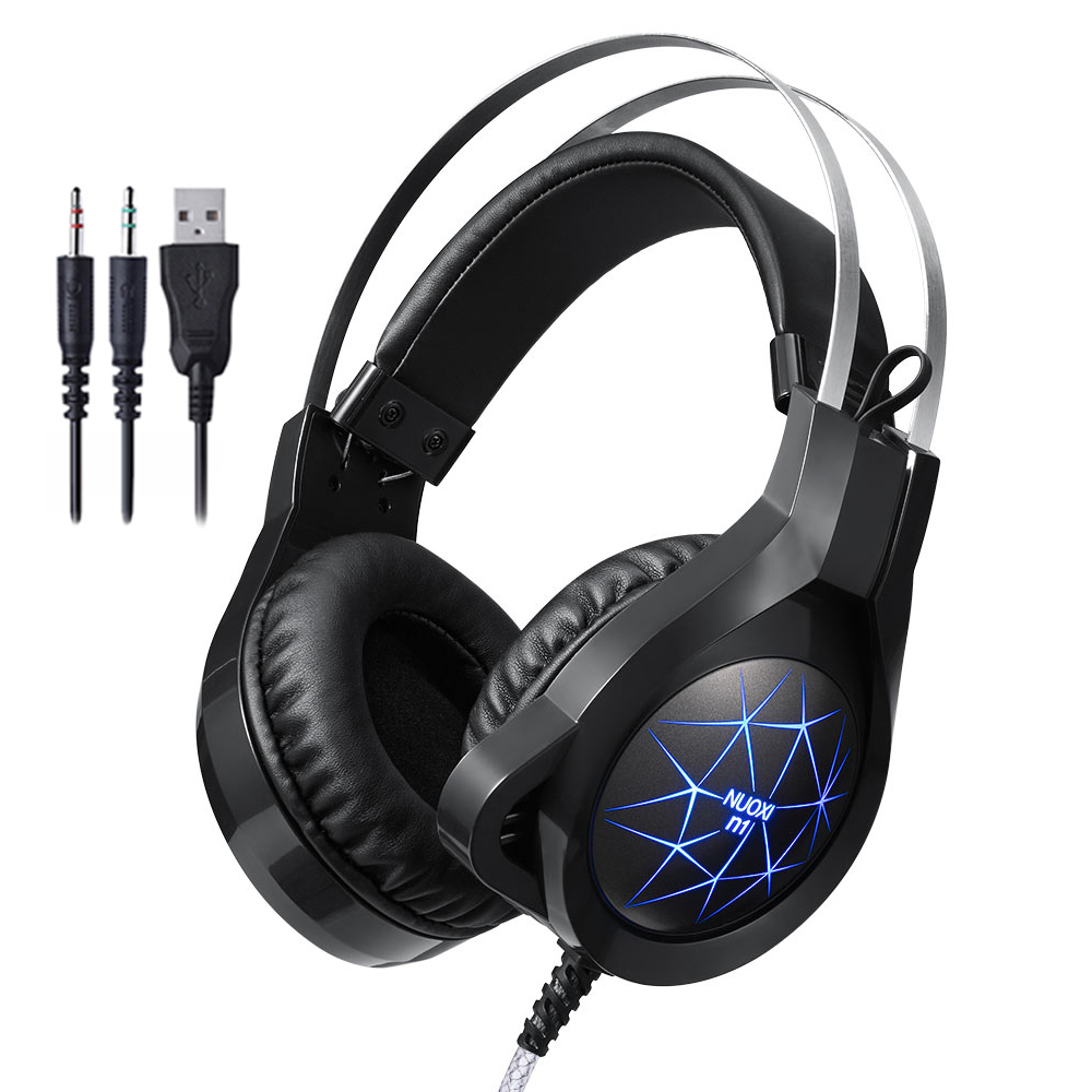 N1 Computer Stereo Gaming Headphones Best Casque Deep Bass Game Earphone Headset with Mic LED Light for PC Gamer in Headphone Headset from Consumer Electronics