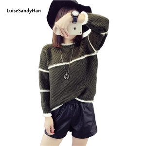 -Women-Slim-Ribbed-Stripe-Sweater-Long-Sleeve-Jumper-Casual-Knit-Tops-Pullover