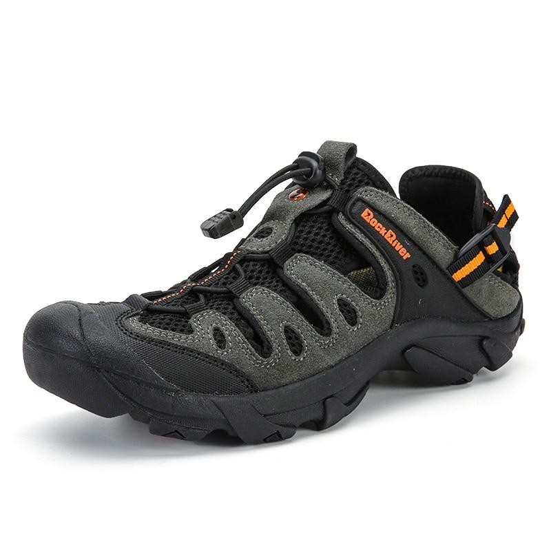 Aqua chaussures été hommes respirant plage pantoufles chaussures en amont adultes natation sandales plongée chaussures pas cher