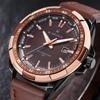 2015 New Men Quartz Hour Date Clock Men Casual Sports Watches Men Leather Wrist Military Watch