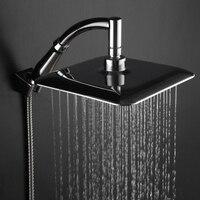 ABS Chrome воды RAINS Насадки для душа большие площади Насадки для душа с настенным креплением расширение душ кронштейн для Ванная комната набор д...
