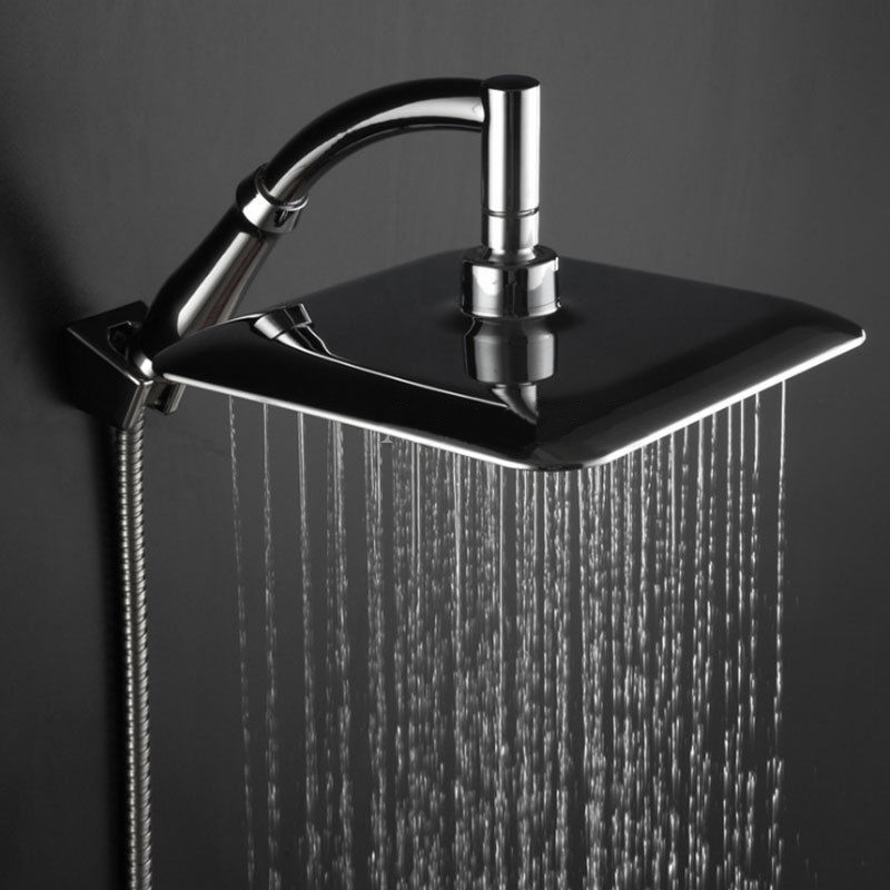 ABS Chrome Water Rains <font><b>Shower</b></font> Head Large Square <font><b>Shower</b></font> Head with Wall Mount Extension <font><b>Shower</b></font> Arm for Bathroom <font><b>Shower</b></font> Set