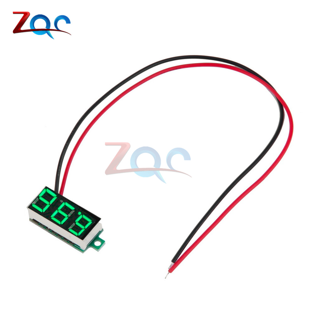 DC 4.7~32V 3-Digit Display Voltmeter 0.36 Inch Mini LED Digital Voltmeter Green Panel Volt Voltage Meter