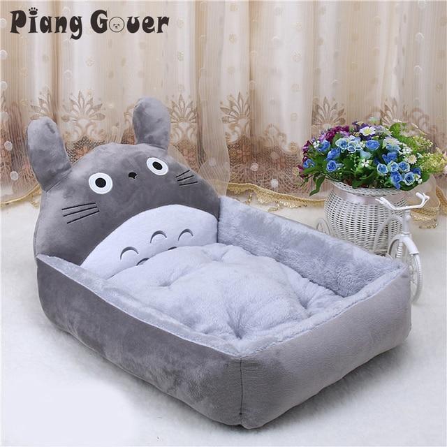 Totoro flanela dos desenhos animados Do Gato Canil Pet Fornecimentos Waterpoor Tamanho Grande Tapete de cama Do Cão Casa de Cachorro Quente Lavar a Mão