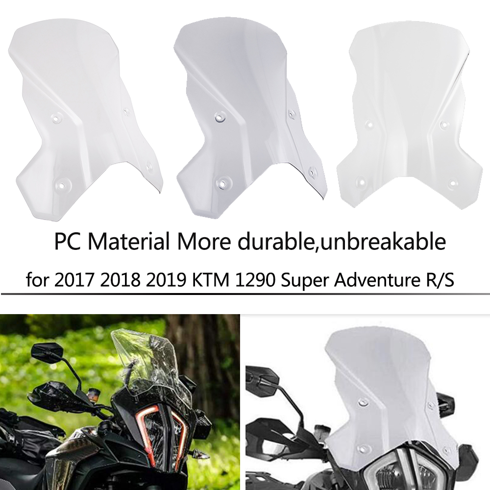 Motorcycle Accessories Windshield Windscreen Screen Headlight Cover Windscreen for 2017 2018 <font><b>2019</b></font> <font><b>KTM</b></font> <font><b>1290</b></font> <font><b>Super</b></font> <font><b>Adventure</b></font> R/<font><b>S</b></font> image