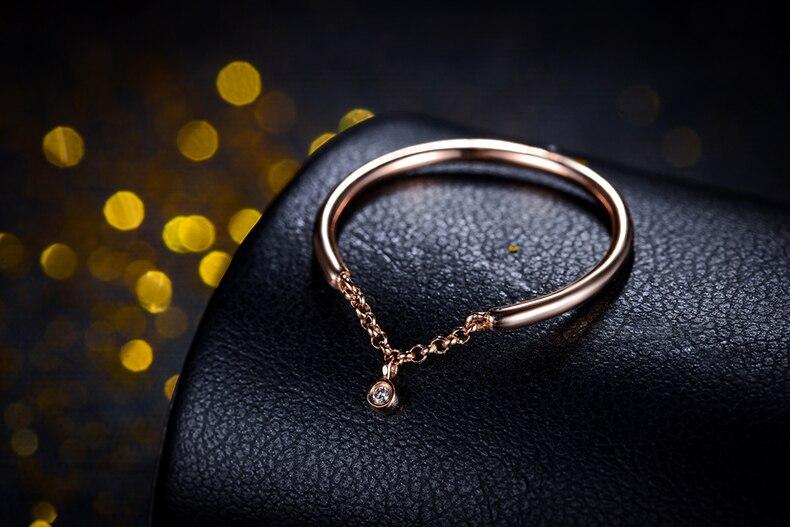 ZOCAI Regalo di Disegno Anello Naturale 0.006 CT Diamond Ring con 18 K Rose Gold (Au750) W06225 - 4