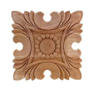 VZLX HOT Vintage Floral Carved Corner Wall Cabinet Furniture Decorative Figurines Wood Appliques for Home Decoration Accessories 1