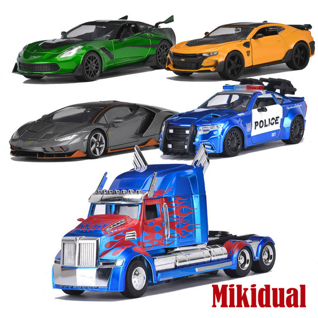 Collectible Alloy Diecast 1/24 Transformation Cartoon Cars Model