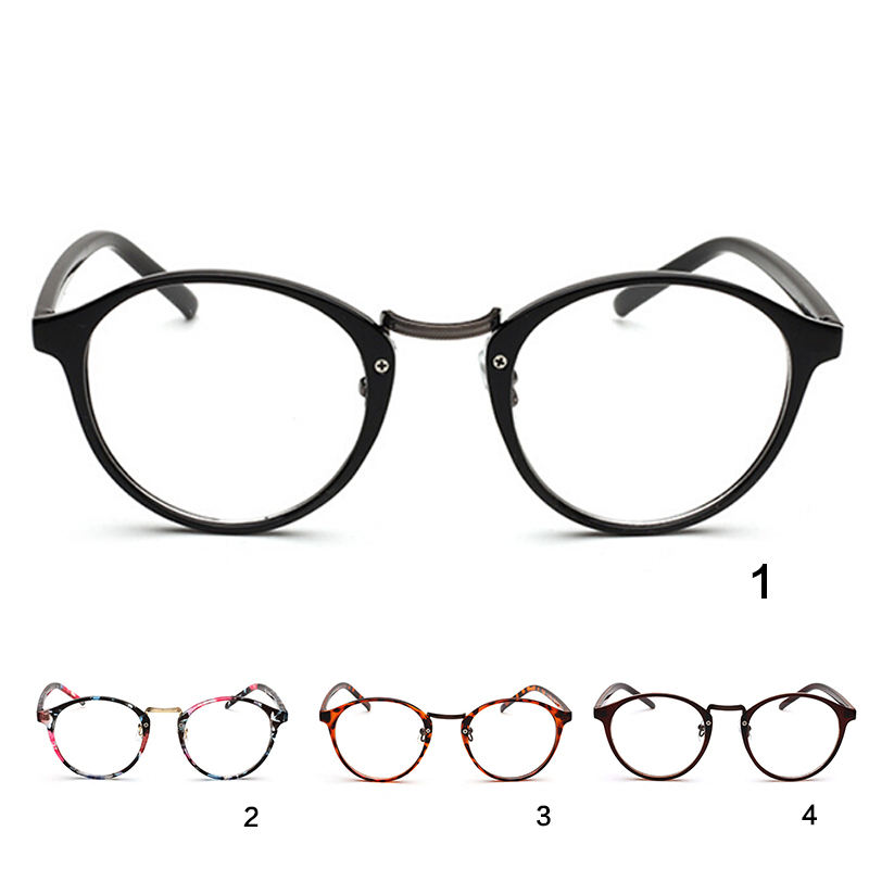 Round Glasses Frame Women Spectacle Myopia Glasses Men Eye Glasses Frame Fashion Transparent Nerd Optical Frames Clear(China)
