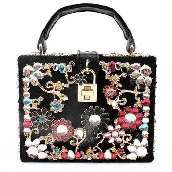bags for women 2019 clutch bag diamonds flower shoulder bag evening bag bolsa feminina luxury handbags women bags designer tote - DISCOUNT ITEM  40% OFF All Category
