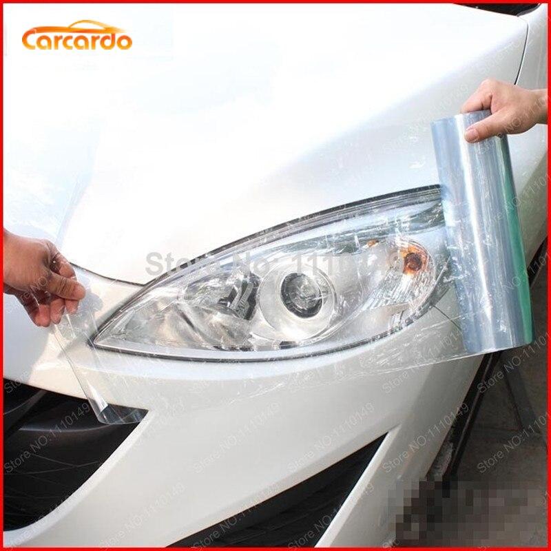 """Carcardo 30 ס""""מ x 200 ס""""מ רכב פנס טאיליט גוון ויניל סרט מדבקת רכב ערפל אור אחורי מנורת ענפים ארוך מדבקות -13 צבע אפשרות"""