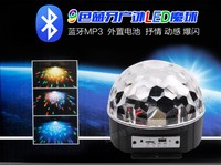 9 LED Remote Control Bluetooth MP3 Crystal Magic Ball Led Stage Lamp Disco Laser Light Party