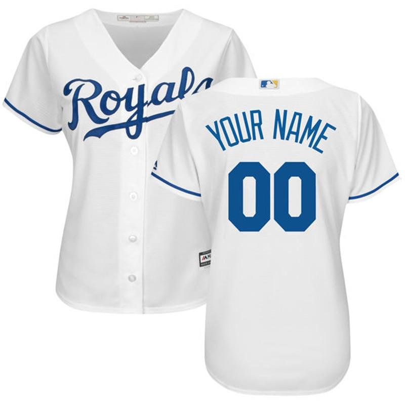 MLB Для женщин Kansas City Royals пользовательских Джерси Majestic White Главная Прохладный База Алекс Гордон Майк Мустакаса Лоренцо Каин Джерси ...