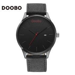 Thương Hiệu hàng đầu DOOBO Quartz-Watch Concise Men Xem Relogio Masculino Thời Trang Casual Men Đồng Hồ Leather Luxury Business Đồng Hồ Đeo Tay