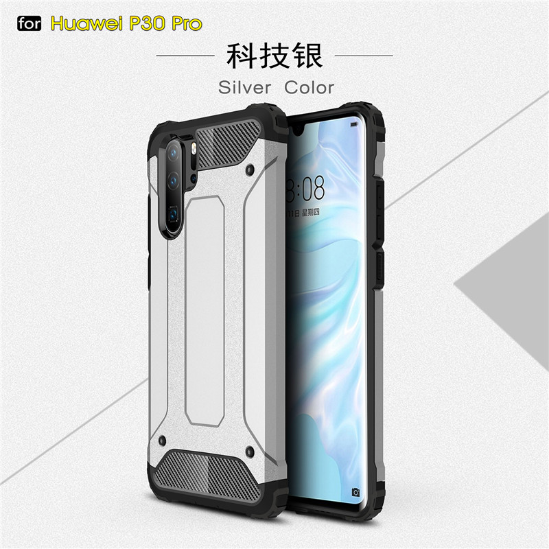 Huawei P30 Pro Cases Cover Anti-knock Soft Silicone + Hard Plastic Back Case For Huawei P30 Pro Fundas Huawei P30 Pro VOG-L29