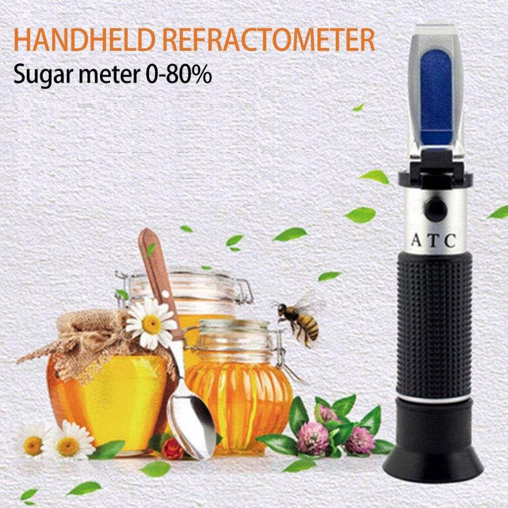 0-80% Brix Miel De Poche Très Précis Mesure Portable Miel Réfractomètre L'apiculture Sucre Équipement De Mesure