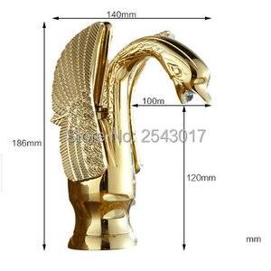 Image 5 - 金色の白鳥の蛇口浴室の高級ヨーロッパスタイル彫刻洗面化粧台のシンクミキサータップデッキは torneira banheiro ZR475