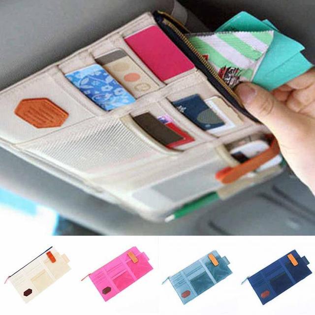 Multi-function Sun Visor Car Storage Holder Vehicle Pocket Organizer Sunshade Storage Board Bag